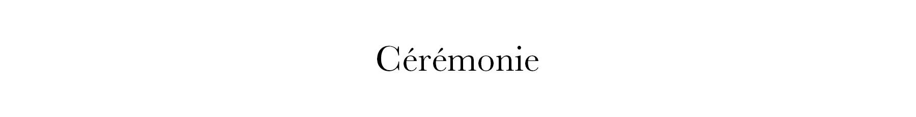 Cérémonies femme